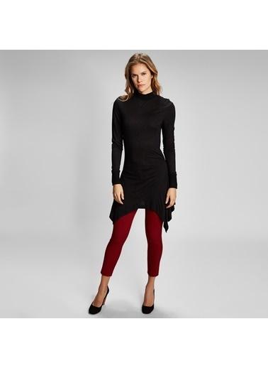 Vekem-Limited Edition Yarım Balıkçı Yaka Tunik Elbise Siyah